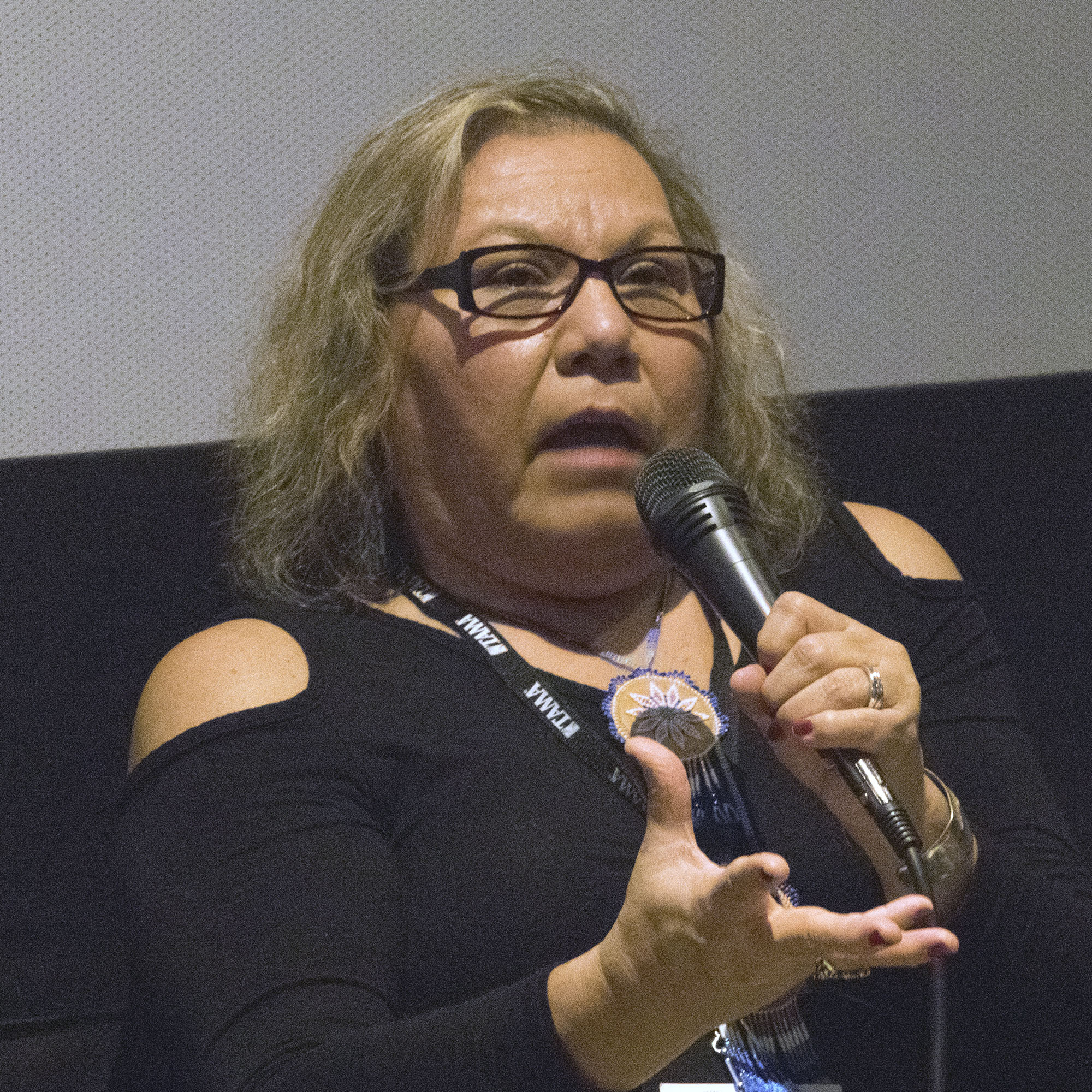 Red Nation Film Festival -NATIVES IN CHARGE OF THEIR NARRATIVE on Tuesday, November 14, 2017 at Laemele Monica Film Center Screening of Open Season (short) and Wind River. Tunica-Biloxi Tribe - Lisa Hope Heth