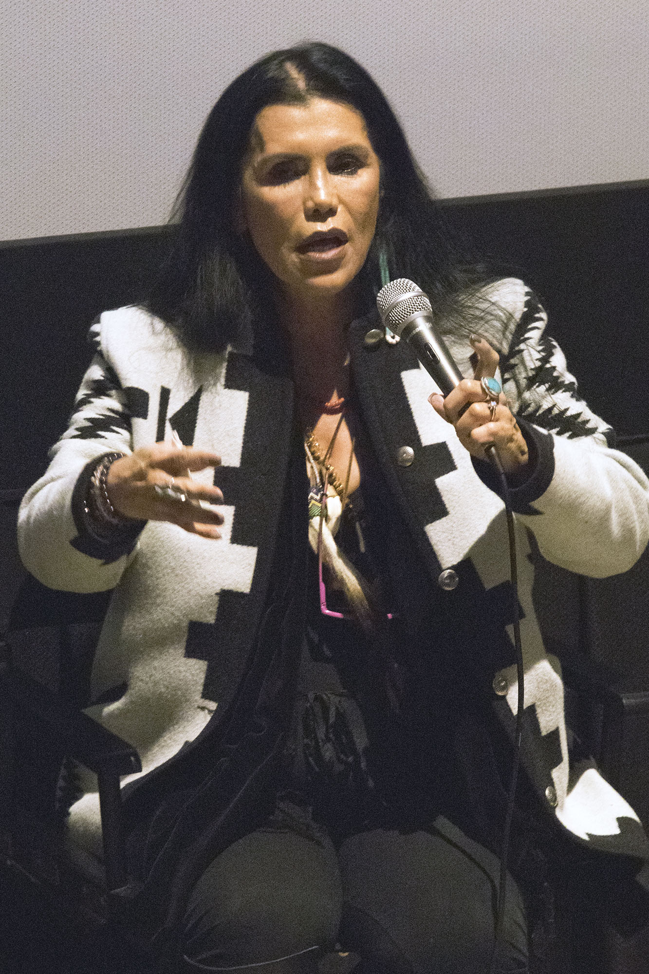 Red Nation Film Festival -NATIVES IN CHARGE OF THEIR NARRATIVE on Tuesday, November 14, 2017 at Laemele Monica Film Center Screening of Open Season (short) and Wind River. Red Nation Film Festival Founder - Joanelle Romero