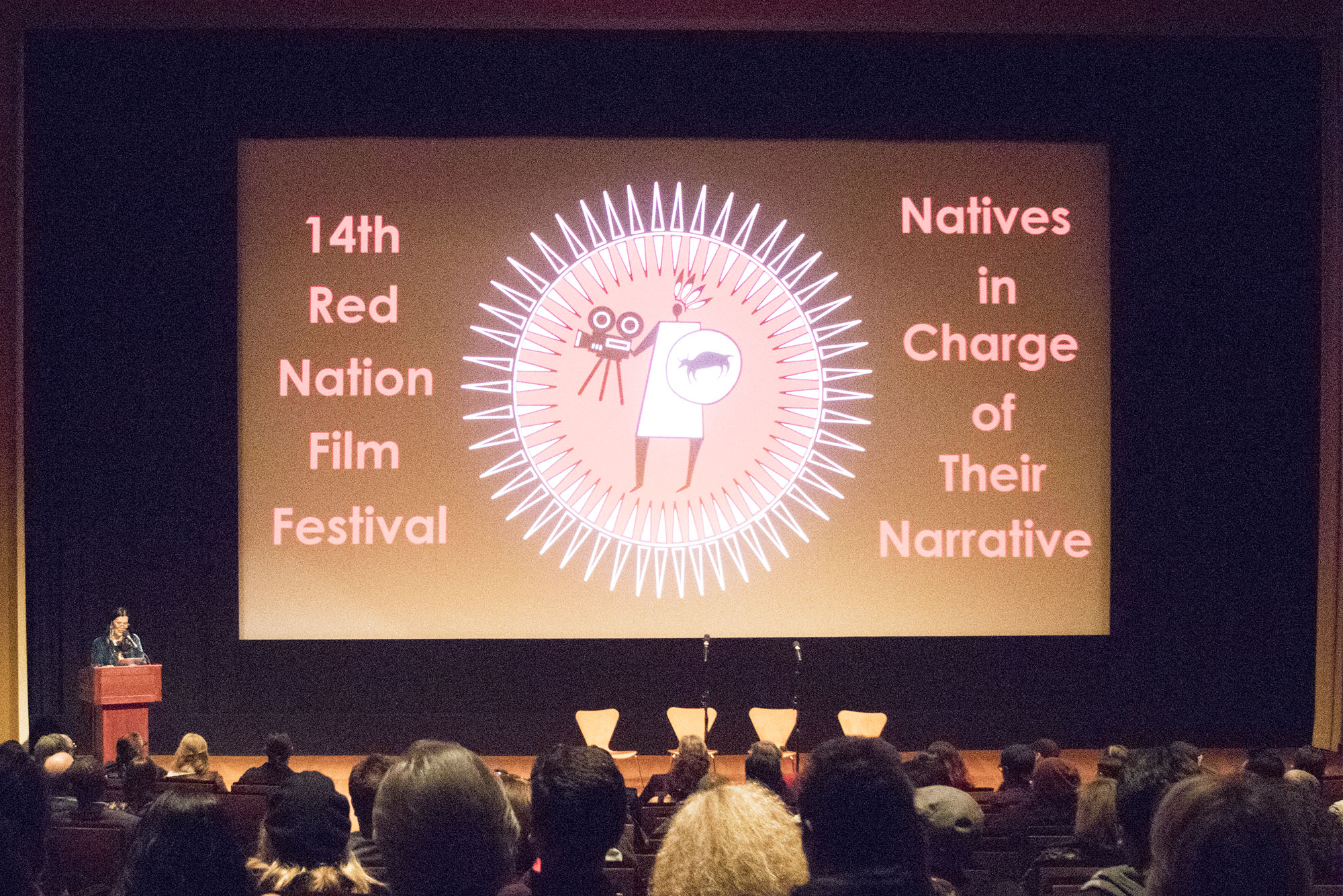 "Red Nation Film Festival -NATIVES IN CHARGE OF THEIR NARRATIVE on Friday, November 10, 2017 at Linwood Dunn Theatre, Hollywood, CA. World Premiere of ""Women in the Sand""."