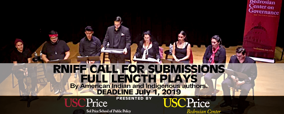 2nd Annual Native PlaywrightContest 2019