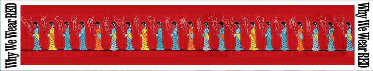 Why We Wear Red Silk Scarf